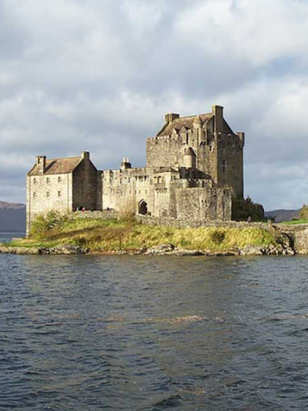 Castle in Scotland by the Scottish Loch.